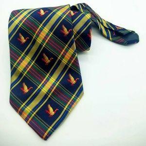 Barbara Blank wild geese tie 100% silk vintage New